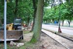 Postęp prac budowlanych na odcinku od ul Arciszewskiego do granicy z Grzybowa