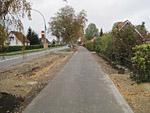 Postęp prac budowlanych - Ścieżka rowerowa w mieście Barth - II etap